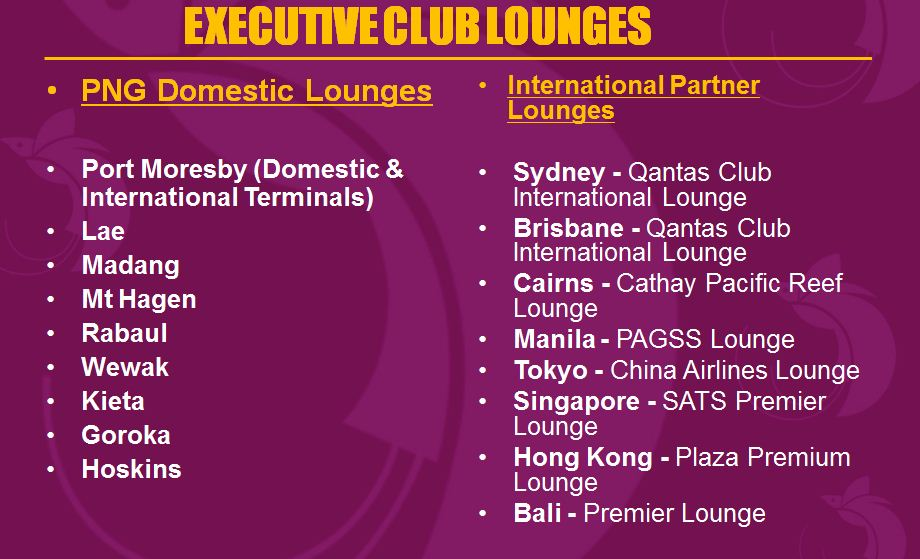 Lounge list Gold